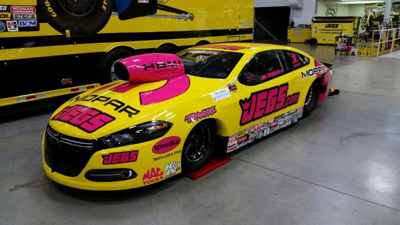 Jegs Pink on Nhra Pro Stock Jegs Car Yellow