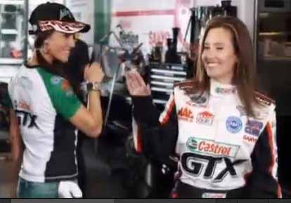 Ashley Force Hood Featured In Latest Krista Marie Video
